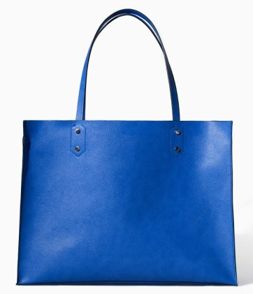 Zara blue shopper $49.90