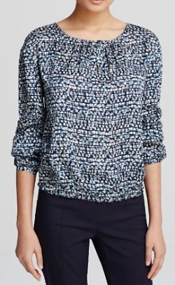 Tory burch blue peasent blouse
