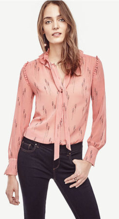 What to Wear This Thanksgiving ann-taylor-leafy-ruffle-collar-blouse-79-50