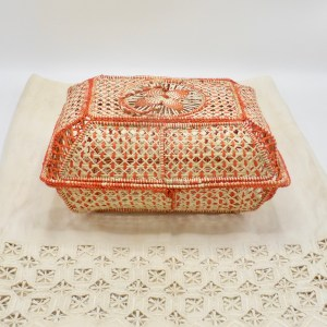 Multi-Purpose Iraca Palm Basket (Orange)