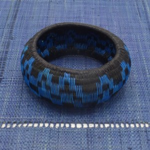 Werregue Palm Bangle Bracelet (Azure Blue/Black)
