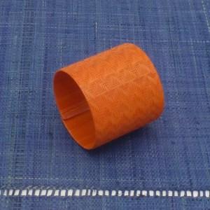 Woven Fiber Cuff (Orange)