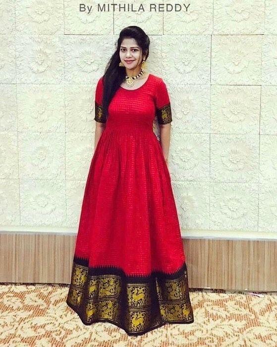 Short kurti dresses from old sarees