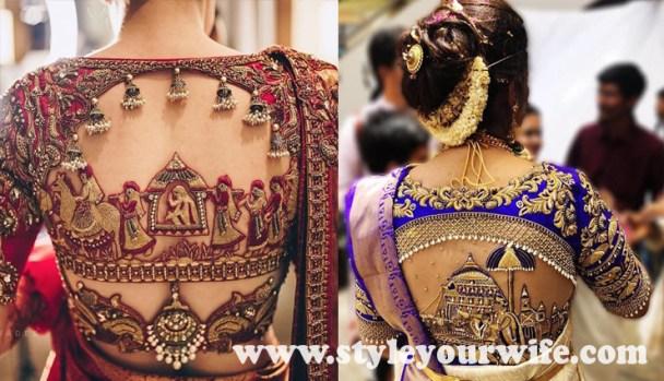 Embroidery blouse designs photos