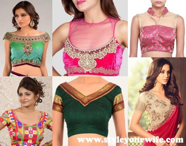 Front Neck Blouse Designs Photos (2)
