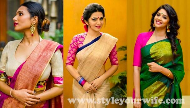 Halter neck blouse designs photos