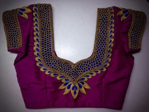 Different Types of Blouse Back Neck Designs
