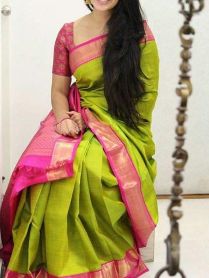 Gorgeous Silk Saree designs for women (4)