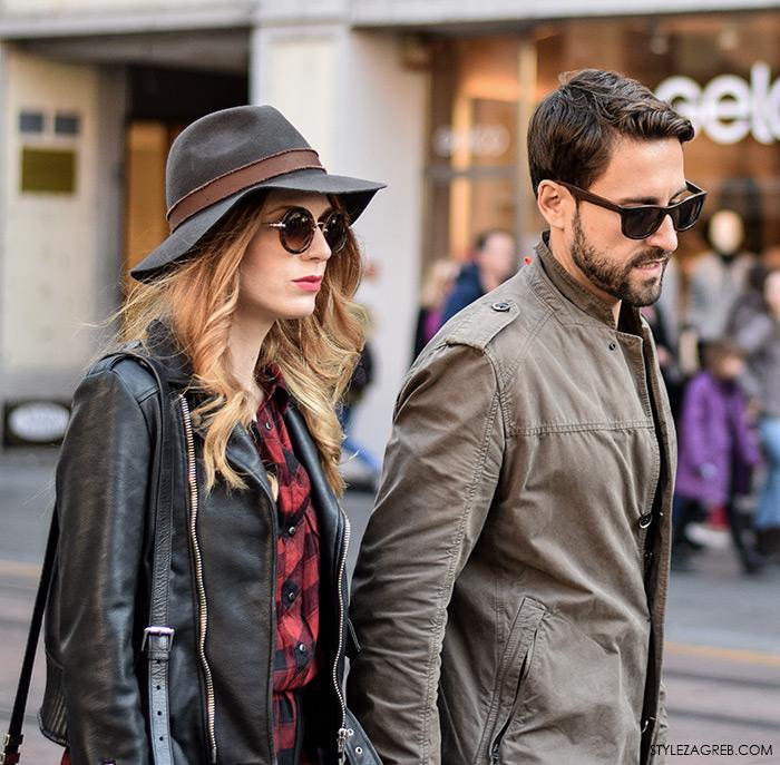 Glumica Nataša Janjić i ginekolog Marko Kisić, ulična moda jesen, stajling šešir, street style moda by Style Zagreb.Com