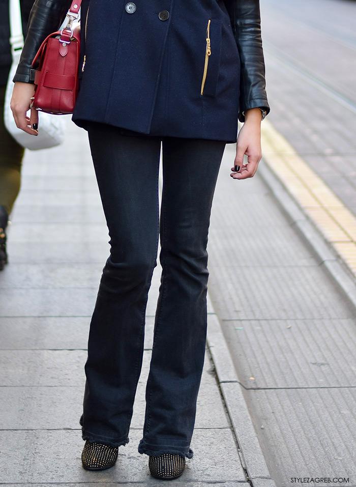 StyleZagreb.com, street style look Iva Marija Ramljak, moda jesen, stajling jakna-pelerina i trapezice