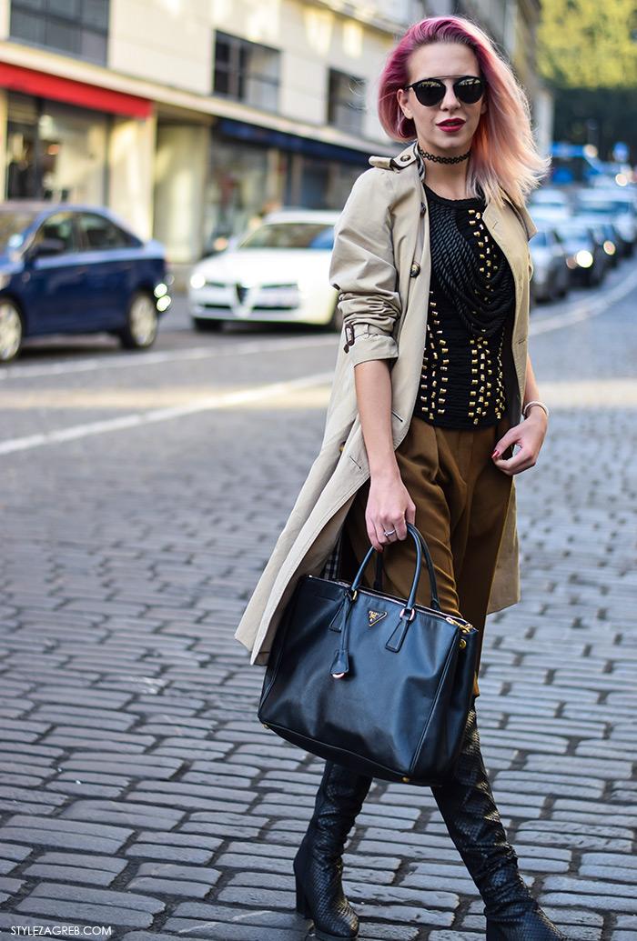 H&M Balmain na street style način, Nika Audrey White, Zagreb street style moda