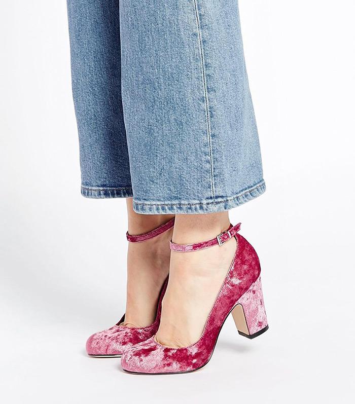 Ideja za šoping: pink velvet cipelice