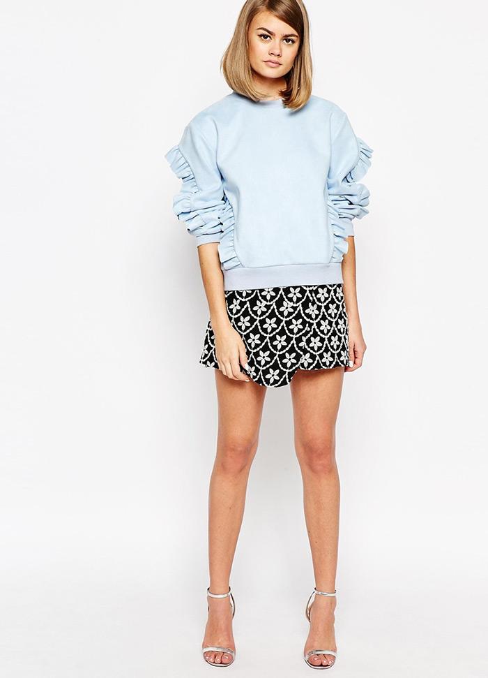 Kako nositi košulje s volanima, MODA: Asos top s volanima inspiriran Miu Miu popularnom košuljom, kako nositi, ideje za dnevni stajling