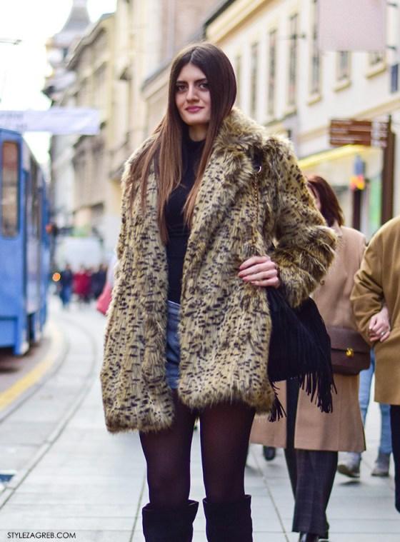 Zimski boho look - ona je šorc vratila na ulicu #streetstyle #Zagreb by StyleZagreb.com