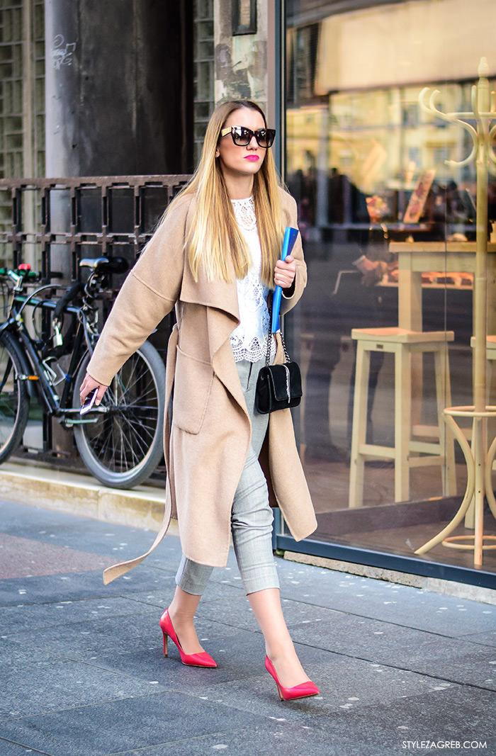 poslovni look za mlade žene žena moda fashion hr zagrebačka špica, kako se obući za razgovor za posao slike, što obući za intervju za posao, street style outfit inspiracije - cipele u boji