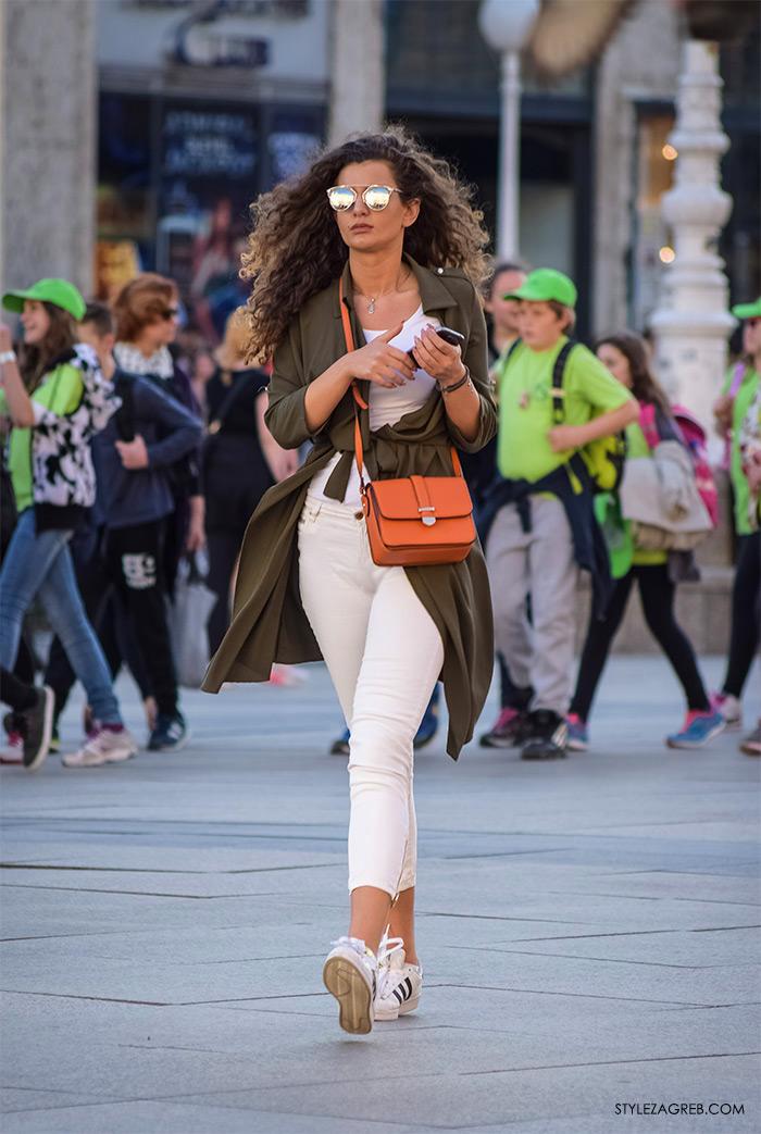 Izabela Kerum, Instagram @bellakerum, LEPRŠAVI BALONERI - kako cure kombiniraju maslinasti baloner, bijele traperice i bijele Adidas tenisice, Zagreb street style proljetna moda fashion žena hr zagrebačka špica modne kombinacije trend portal zena forum hr by StyleZagreb.com