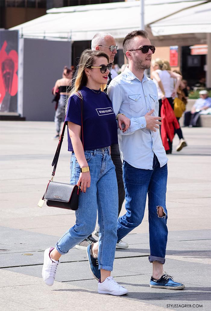 Street Style Zagreb ulična moda Zagrebačka špica žena moda fashion hr modne kombinacije trend portal proljetna moda parovi na ulici