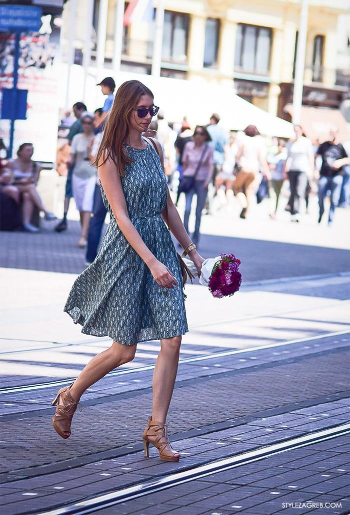 street style Zagreb, ulična ženska moda lipanj 2016 midi haljina