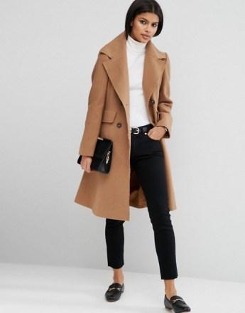 Ženska moda elegantni kroj kaputa bež devina dlaka zima 2016 kombinacija street style Zagreb Instagram