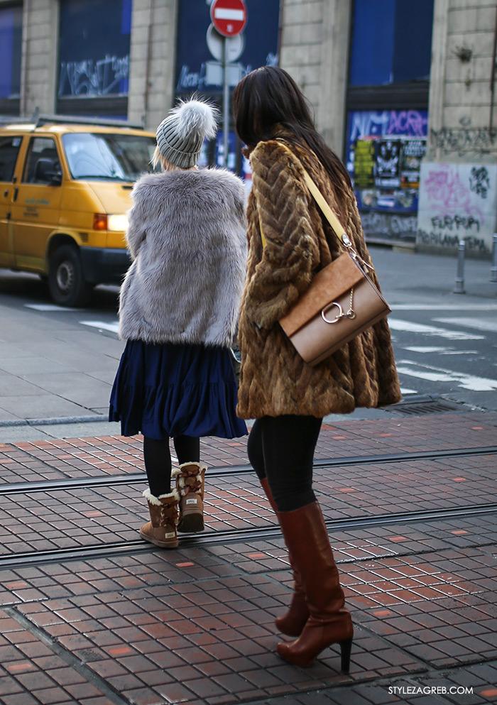 Dress code. Faux fur coats, women's winter fashion what to wear street style za Advent u Zagrebu: kako se odjenuti za prohladnu špicu