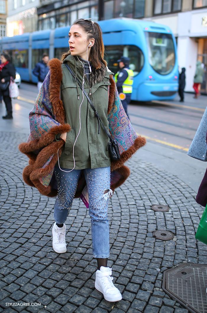 street style women's winter fashion Zagreb Croatia