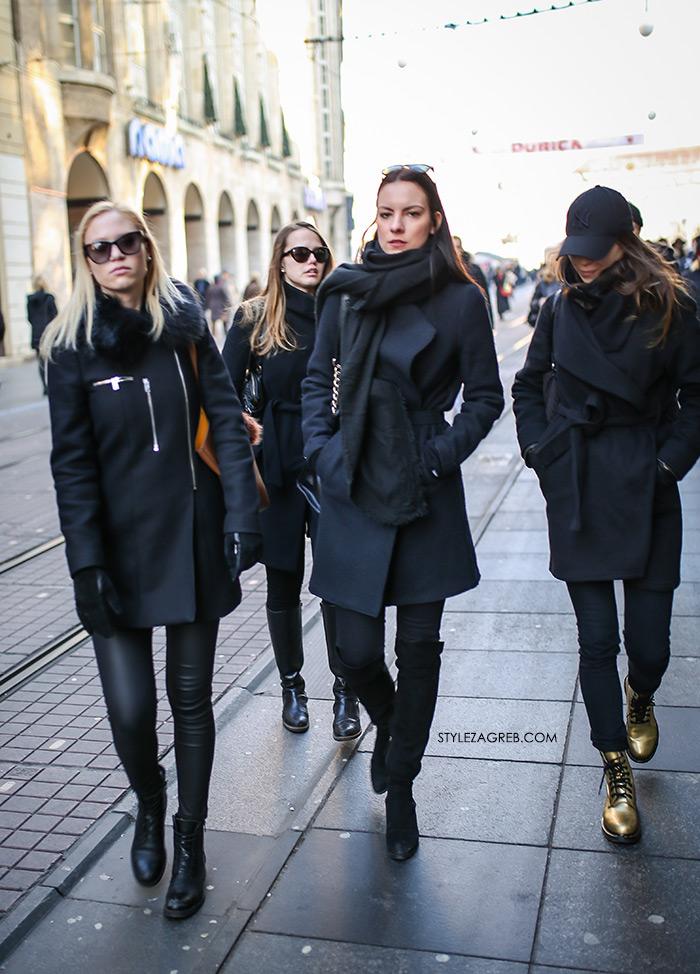 svečane haljine zagreb www žena hr croportal žene hr portali Style Zagreb gdje kupiti crni kaput styling crno i zlatne marte, womens street style winter fashion girl squad