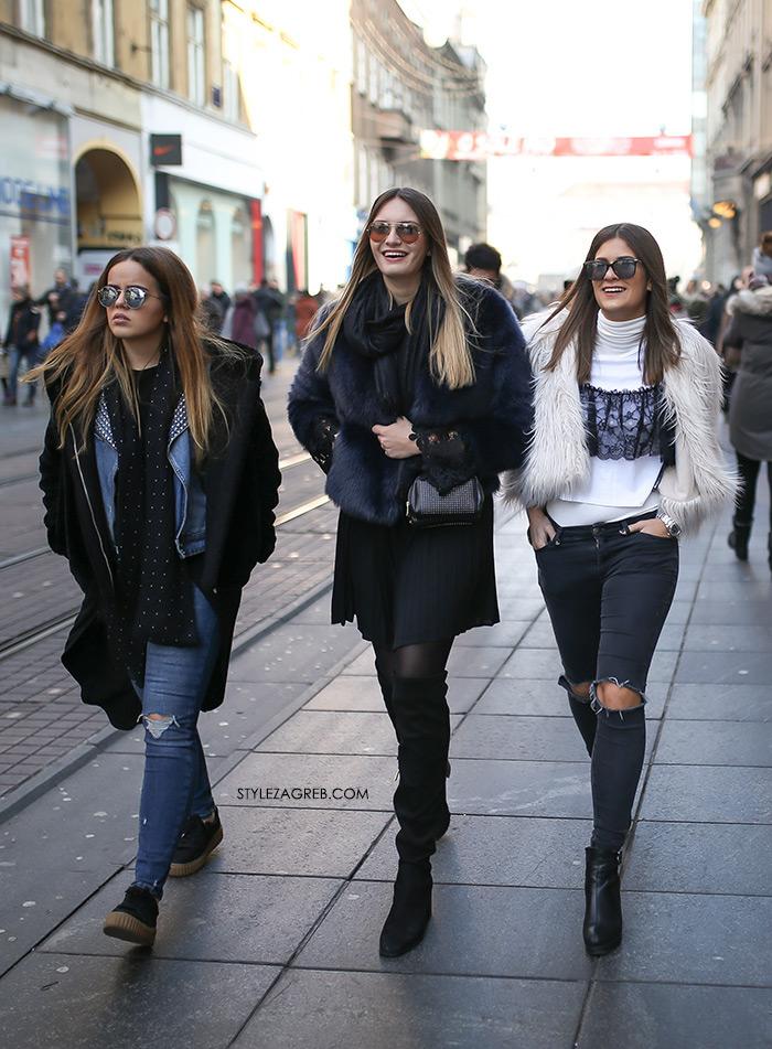 Style Zagreb ženska ulična moda 2017. gdje kupiti bijelu kratku umjetnu bundicu, womens street style winter fashion girl squad