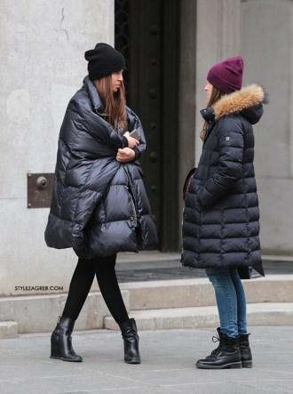 Crna pernata jakna - jedan posve neobičan kroj | Style Zagreb