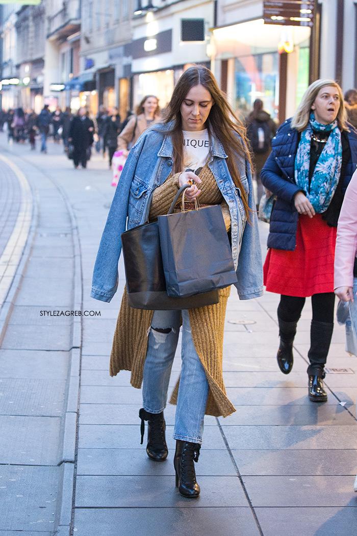 Traper jakna: važan stilski igrač za proljeće! Street style Zagreb kako nositi traper jakna trend ženska moda proljeće
