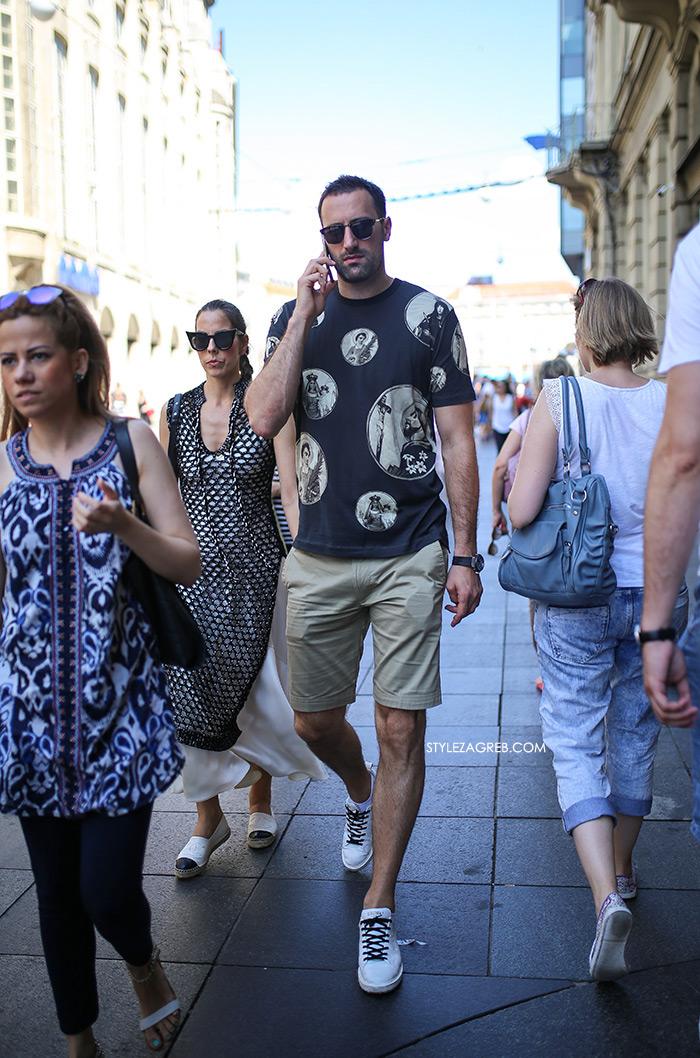 Ljetne poruke Mate Rimca i Igora Vorija | muška moda ljeto t-shirt majice bijele tenisice street style Zagreb stylezagreb Muška moda: Ljetno izdanje - Mate Rimac i Igor Vori