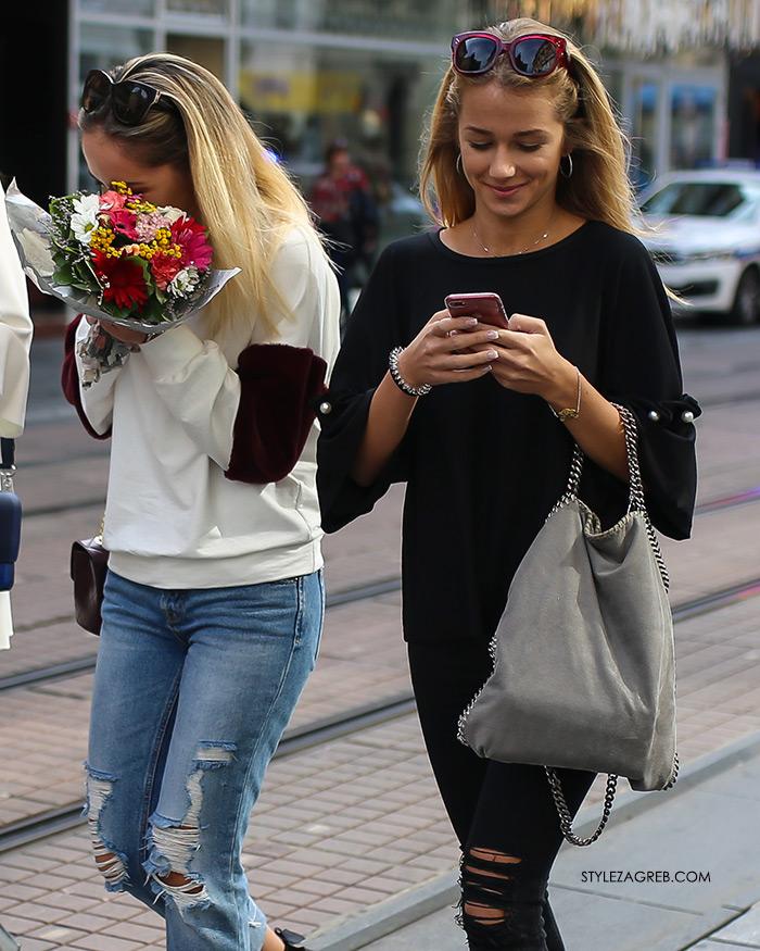 Rujanska špica vrvi jesenskim trendovima Street style Zagreb jesenska ženska moda lijepe cure
