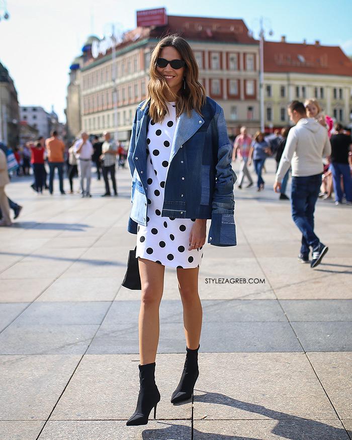 špica moda Zagreb jesen stylezagreb Ivana Vukušić Klisab traper dekonstruirana jakna čarapa čizmice