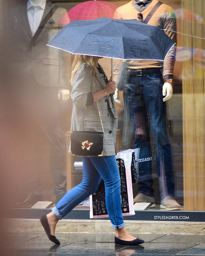 Zagreb street style jesen moda špica sivi sako traperica i balerinke
