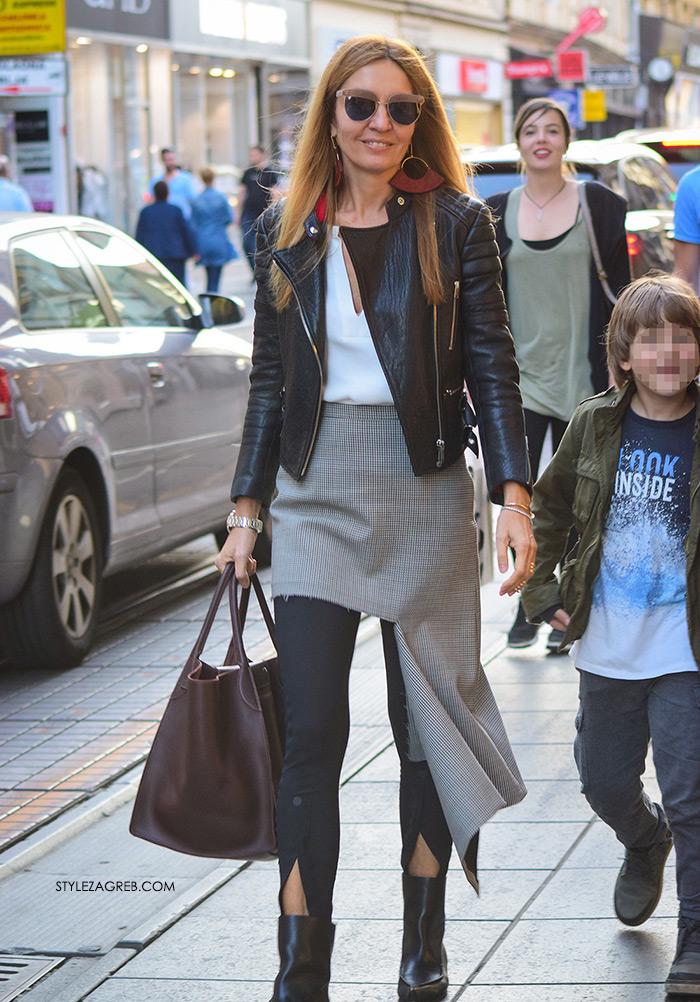 Maja Tedeschi street style slike: pocijepana Balenciaga suknja