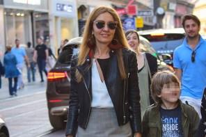 Maja Tedeschi: Jesenski dnevni look u pocijepanoj Balenciaga suknji