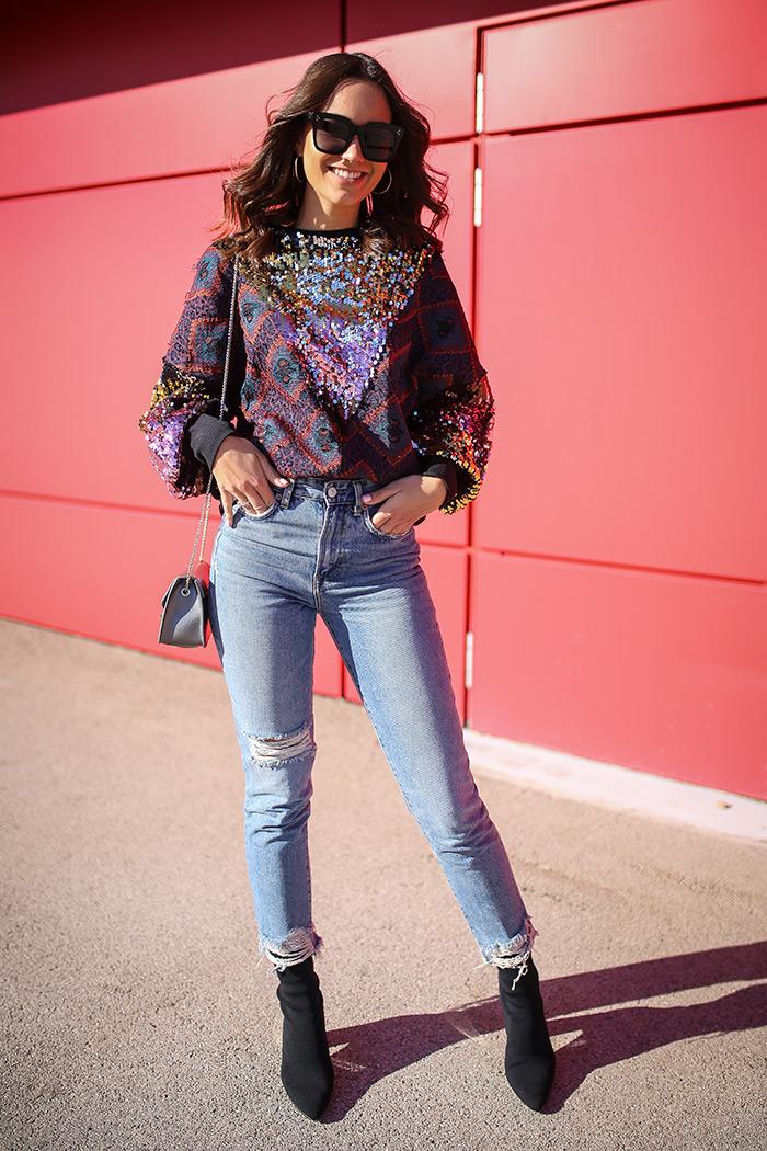 Paula Vuko, Style Zagreb, street style špica Arena centar jesenska moda trendovi traper Zara moda, mom's jeans