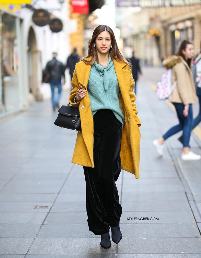 kako nositi žuti kaput Dora Drkula Style Zagreb sestre Josipović