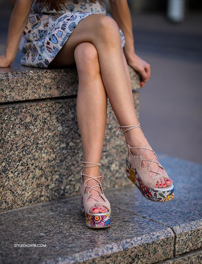 Ana Josipović Style Zagreb street style platforma sandale