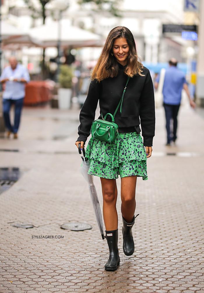 street style Nika Miladin Instagram moda jesen zelena suknja & Other Stories