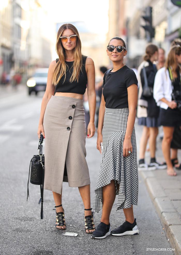 midi suknje street style