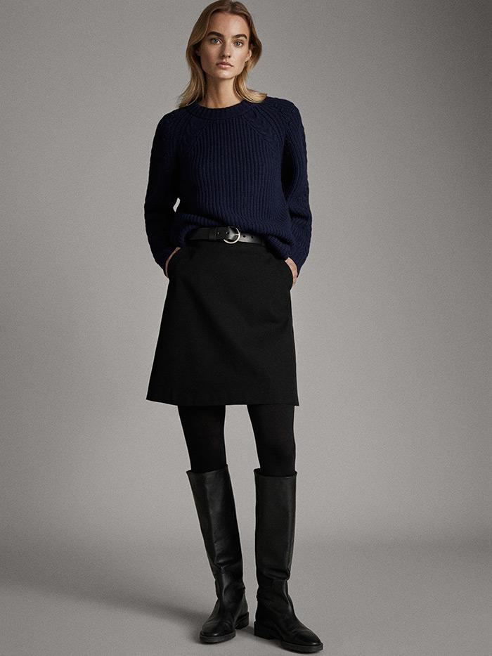 massimo dutti što odjenuti na posao crna mini suknja A kroja style zagreb