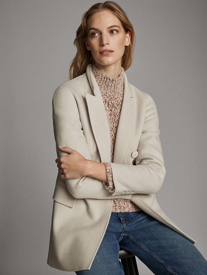 massimo dutti što odjenuti na posao proljetni kaput u boji slonovače style zagreb