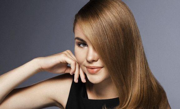 Beauty with shiny Hair