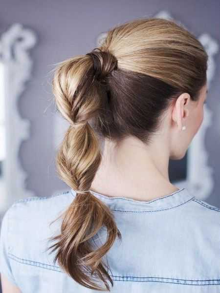 Fancy Twisted Ponytail 2016