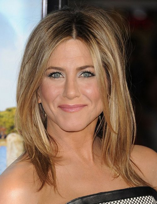 Jennifer Aniston Mid-length Golden Waves