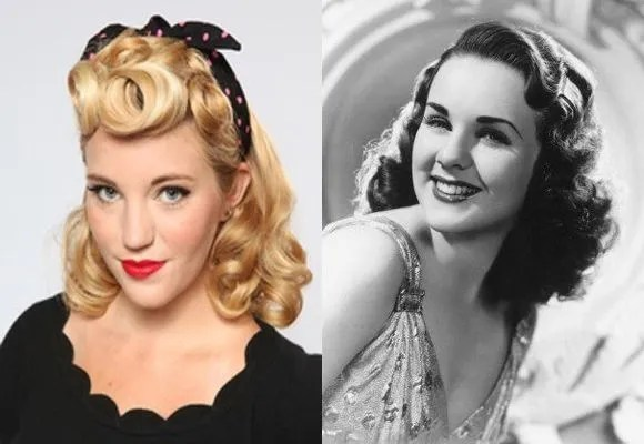 Rockabilly retro 1940s hair