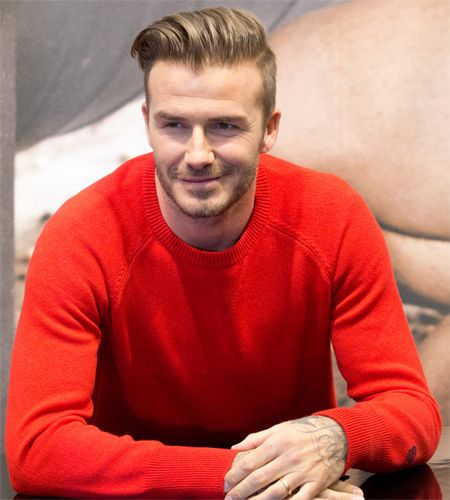 Slicked back Beckham haircuts