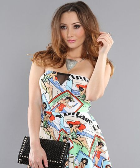 Check prints pin-up dress