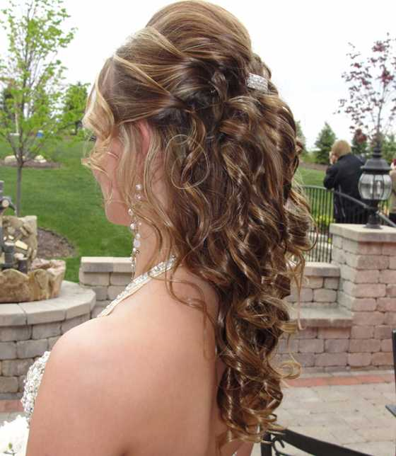Half up Half down Prom Hairstyle 2016