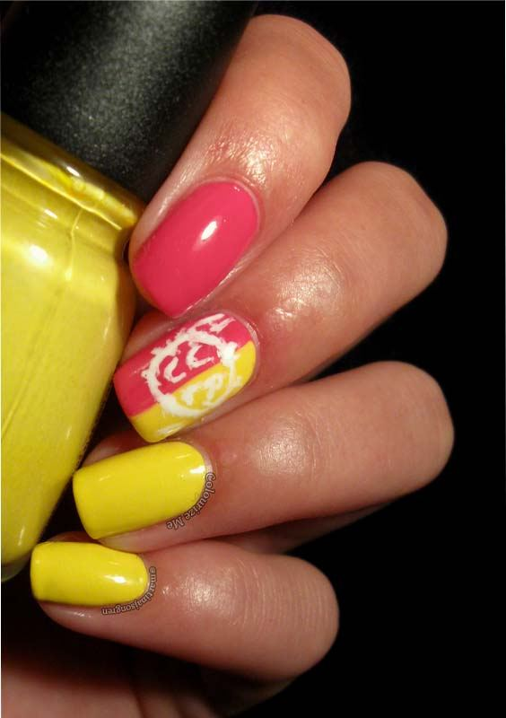 Gorgeous Yellow & Pink Nail Arts and Designs